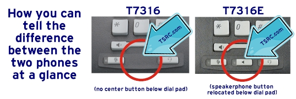 How to tell the Nortel / Norstar / BCM T7316 and T7316E apart